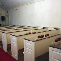 Lovely Williamsburg-style Church Pews Available in Stamford, CT