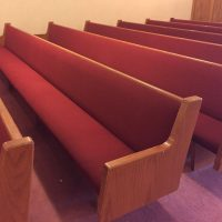 Red Church Pews & Chairs