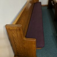 23 oak pews and matching pulpit
